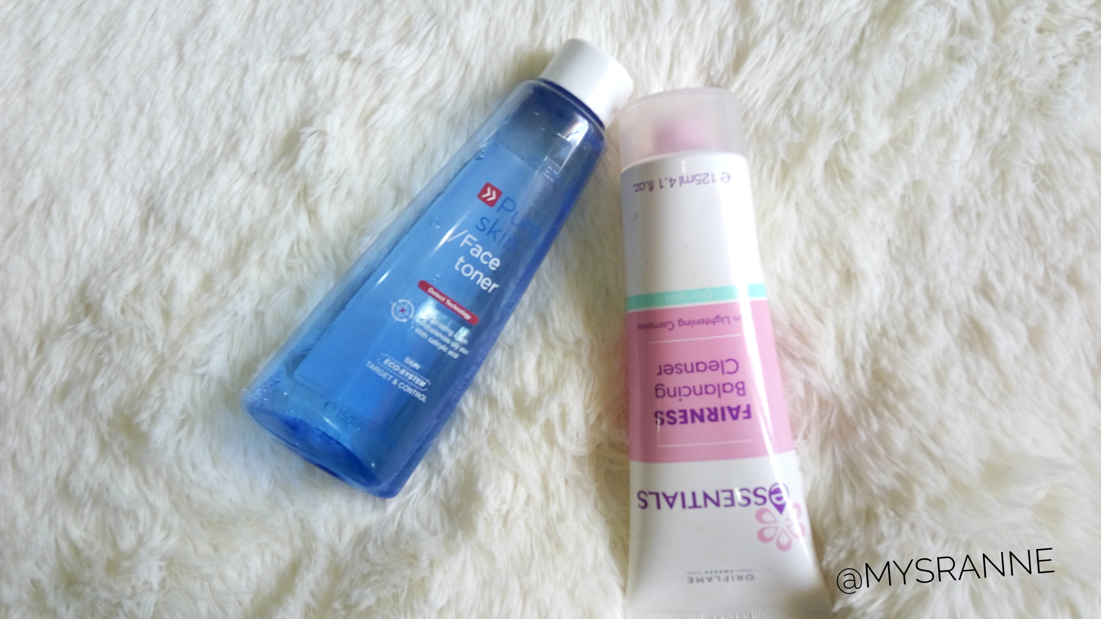 ORIFLAME FACE TONER &BALANCING CLEANSER (Review)