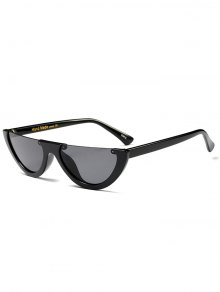 Mirrored SunglassesSemilunar Semi-Rimless Sunglasses