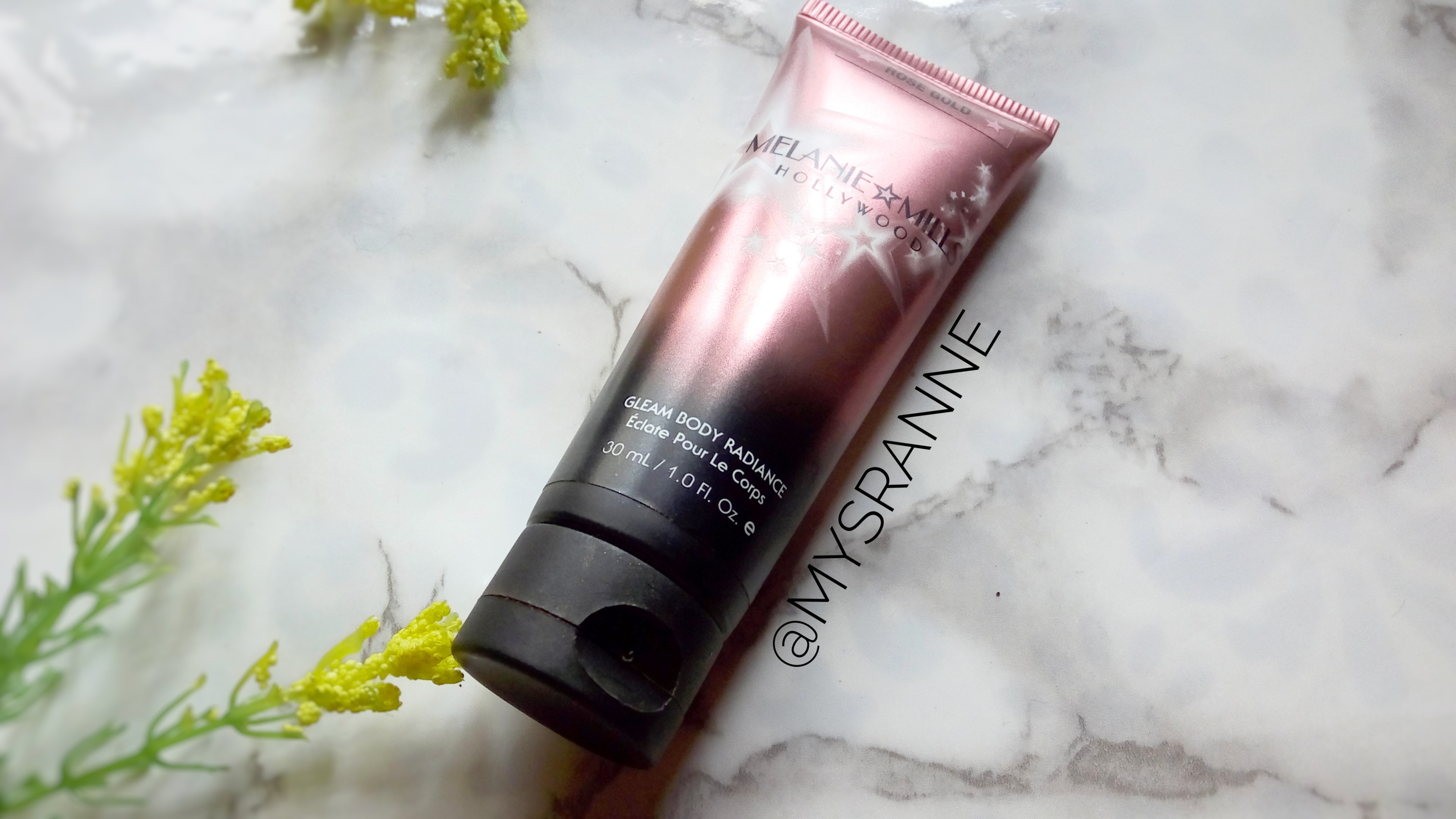 MELANIE MILLS HOLLYWOOD GLEAM BODY RADIANCE IN ROSE GOLD (Review & Swatches)